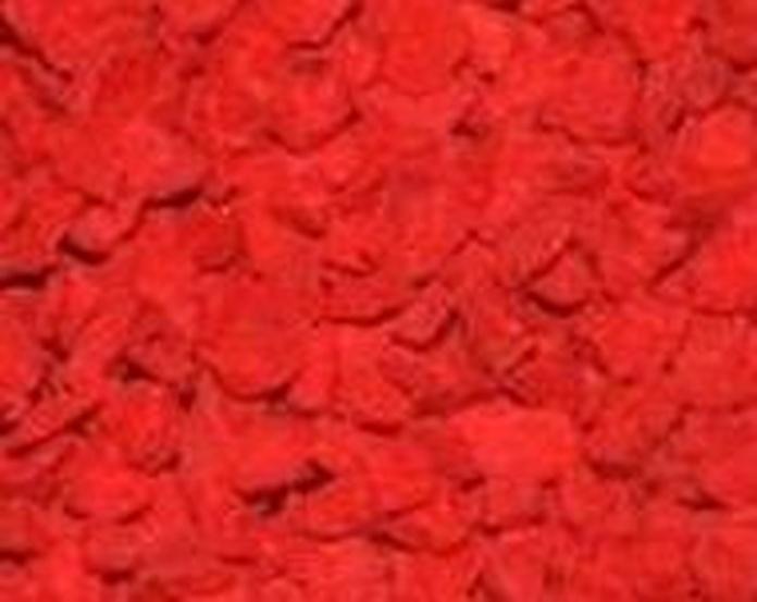 Triturado pigmentado en color rojo