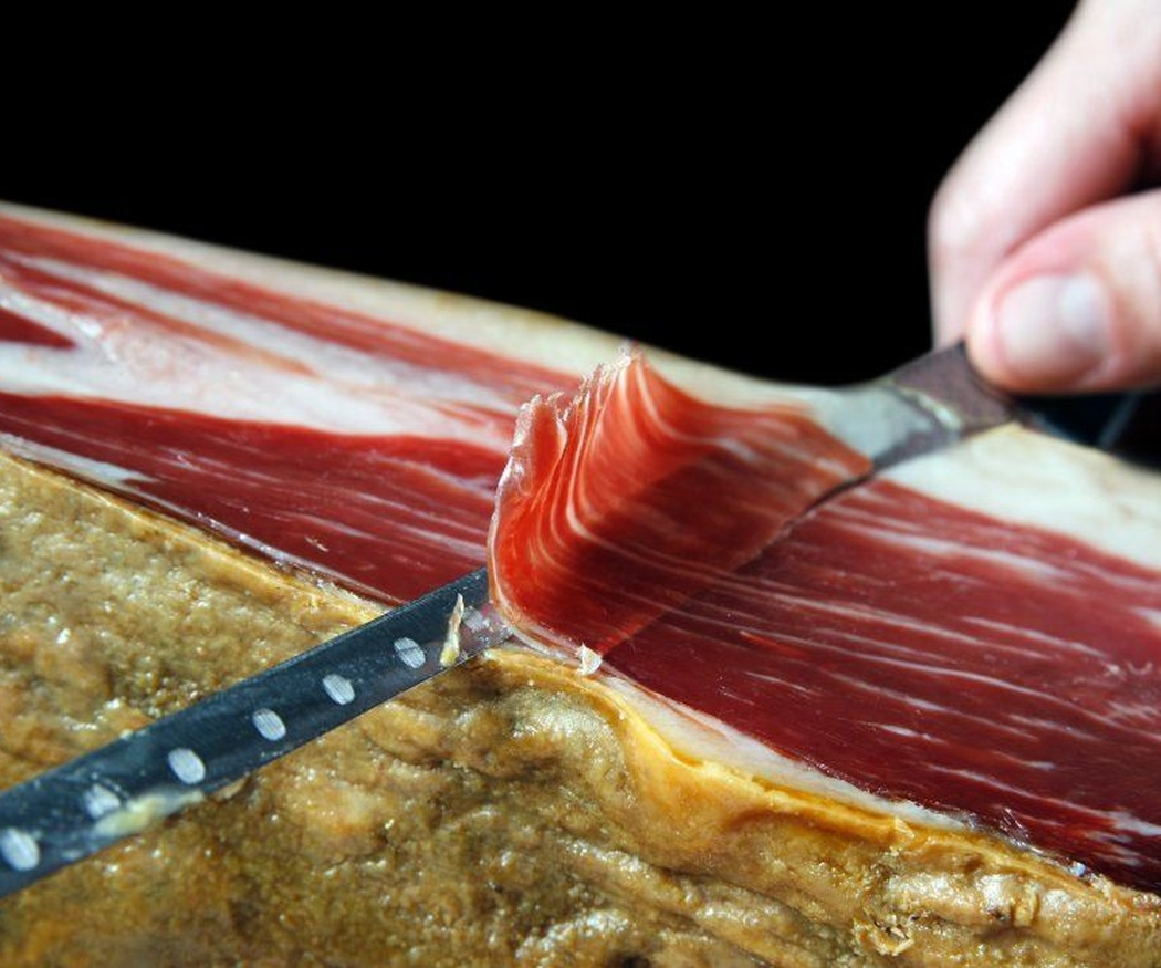 Saludable jamón ibérico de bellota