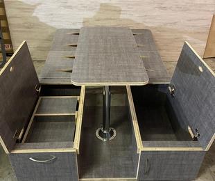 Mueble Salón-Cama Estándar medidas S, M y L (adaptable a cualquier furgo)