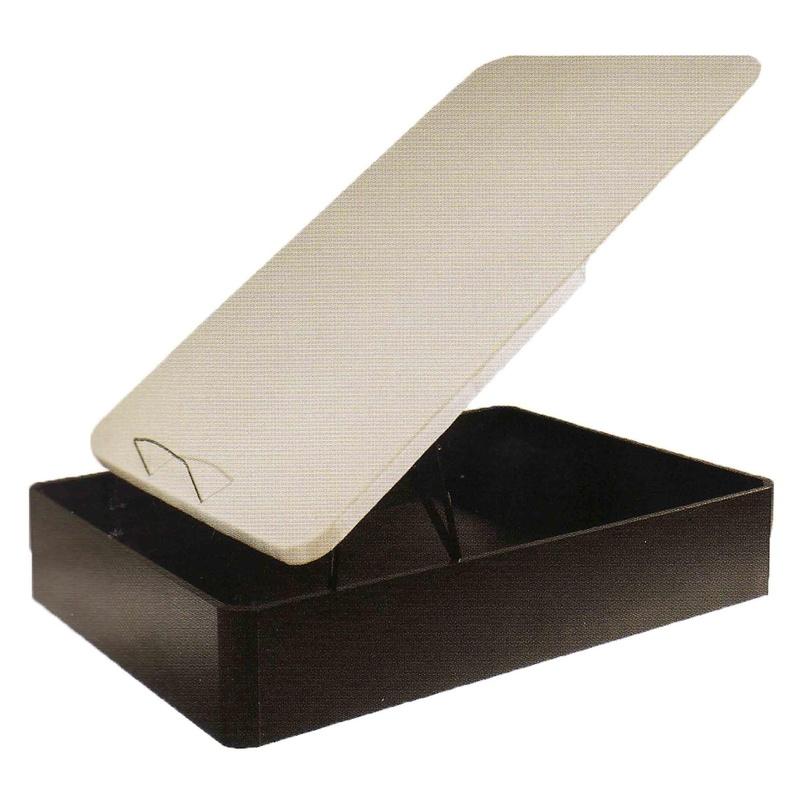 Canapé Vizarra, canapé abatible de gran capacidad en madera, disponible en color cerezo, wengué y blanco, pudiendo ser con tapa 3D o en tapa somier.