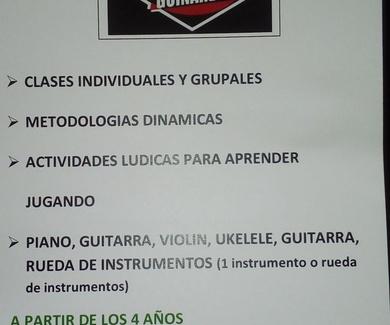 CURSO DE VERANO PIANO,UKELELE,VIOLIN,GUITARRA