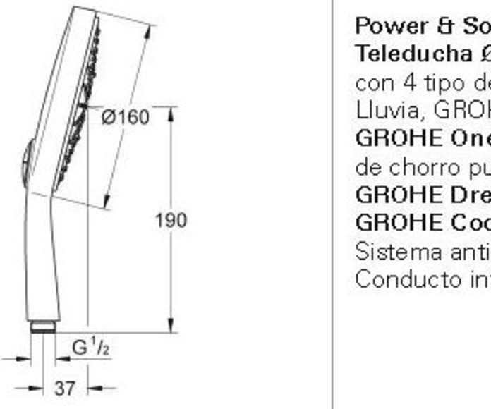 Teleducha POWER & SOUL GROHE