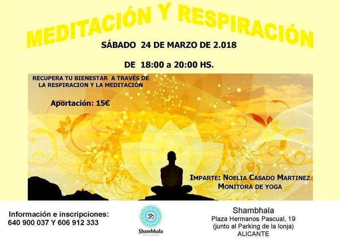Taller de Meditación y Respiración Alicante