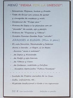 """Mena por la """"Unesco""""."""