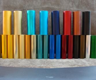 Coloración: Tratamientos del aluminio de BUCI TRATAMIENTOS ALUMINIO, S. L.