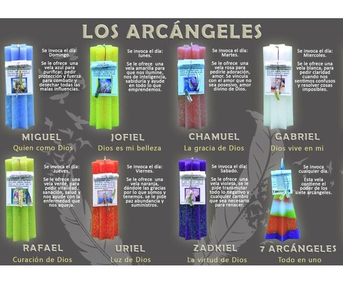Los arcángeles: Productos de Alumbra a toda Vela