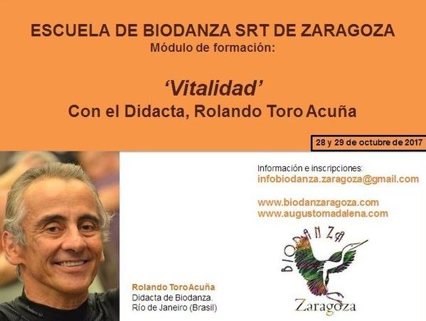 Módulo 'Vitalidad' en la Escuela de Biodanza de Zaragoza, a cargo de Rolando Toro Acuña