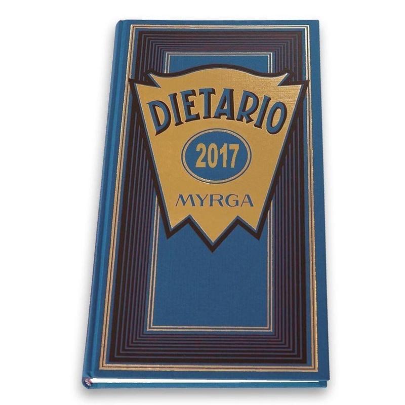 Agenda/Dietario Myrga. Tamaño 2/3, dos tercios. Dia Pagina 2017