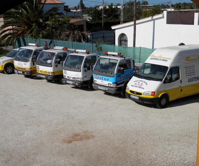 Nuestros vehículos: Servicios de Grúas Sanluqueña