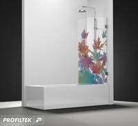 Mampara de baño Profiltek serie Newglass modelo NG-101 decoración Fashion