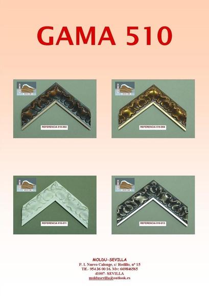 GAMA 510: Muestrario de Moldusevilla