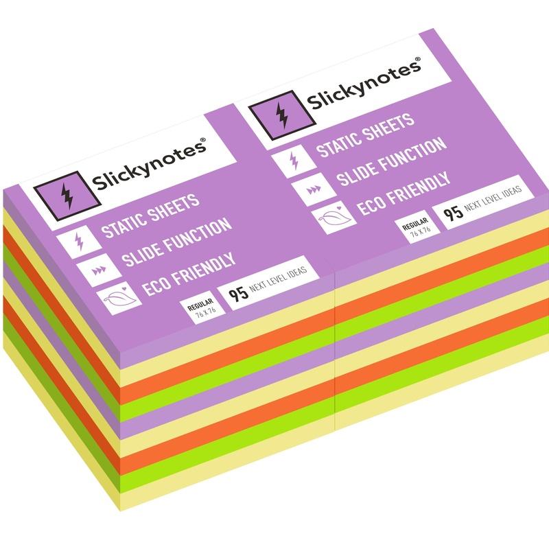 NR-18A - Pack 18 Slickynotes 76x76 mm Colores: Productos y Servicios de Rosan