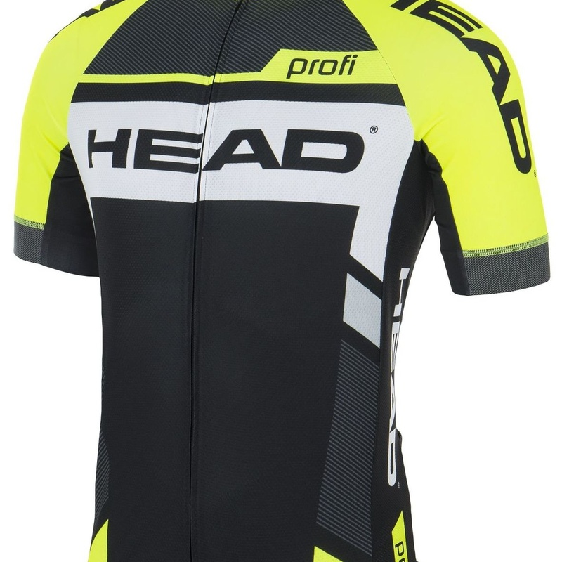 MAILLOT HEAD C100 PROFI TALLA L NEGRO AMARILLO: Productos de Bikes Head Store