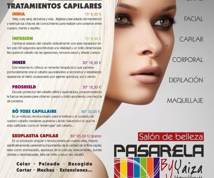 Tratamientos capilares: Peluquería y Estética de Salón de Belleza Unisex Pasarela