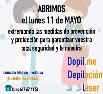Abrimos el lunes 11 de mayo