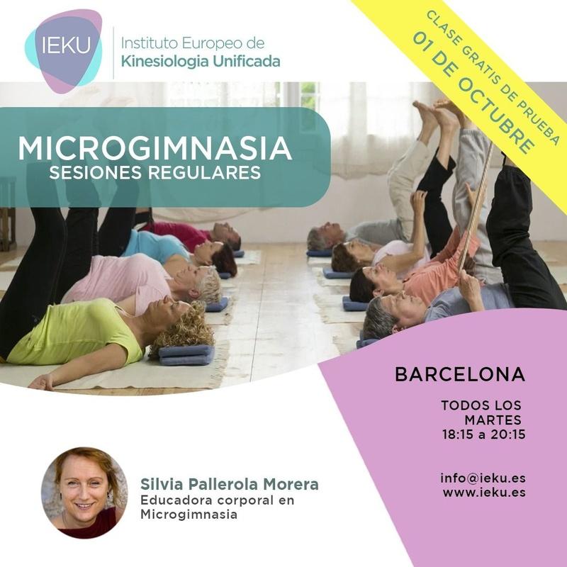 Microgimnasia. Sesiones regulares: Cursos - terapias kinesiologia de Cursos Presenciales Kinesiología Unificada® Barcelona Rubén Álvarez