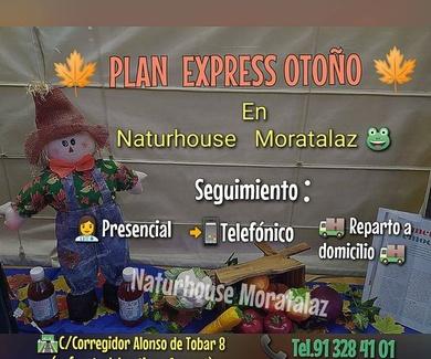 PLAN EXPRÉSS OTOÑO en tu centro de dietética Naturhouse Moratalaz