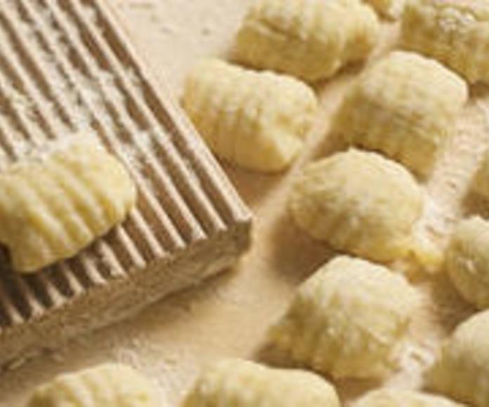 Gnocchi fresco relleno de setas y queso