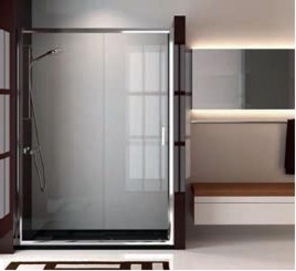 Mampara ducha Niza liso 1 fijo + 1 corredera