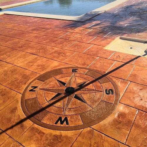 Hormigón impreso en Librilla (Murcia). Molde tipo pizarra.