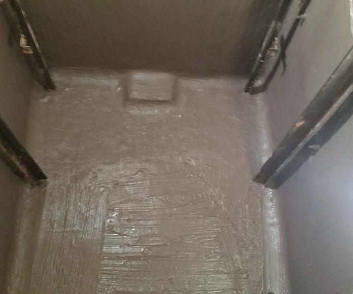 Impermeabilización de fosa de ascensor.