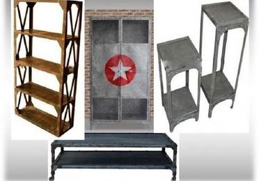 Muebles estilo vintage e industrial