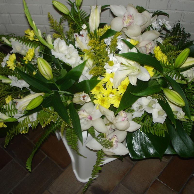 Con orquideas