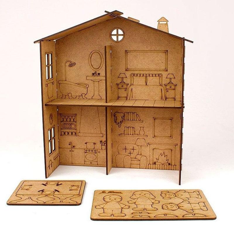Juego de construcción en madera para jóvenes arquitectos