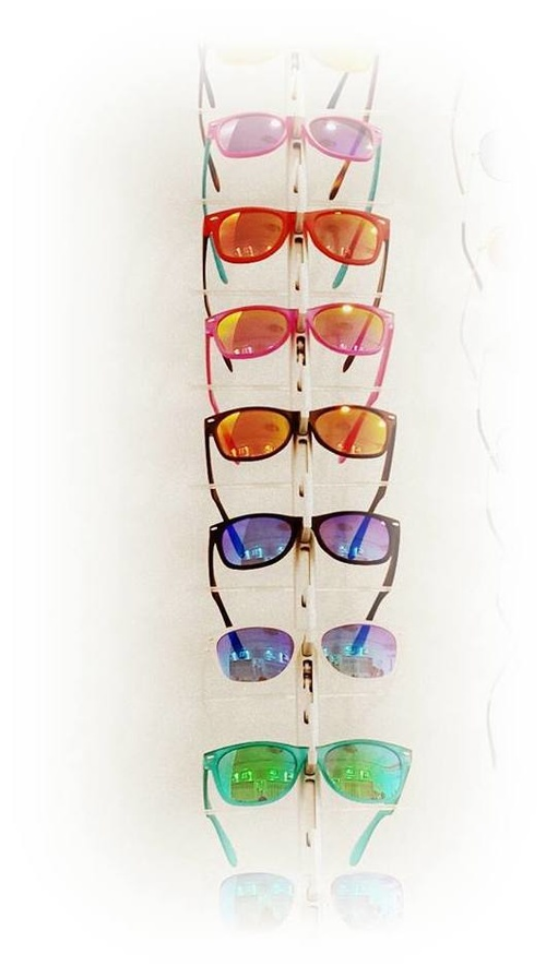 Gafas de distintos colores