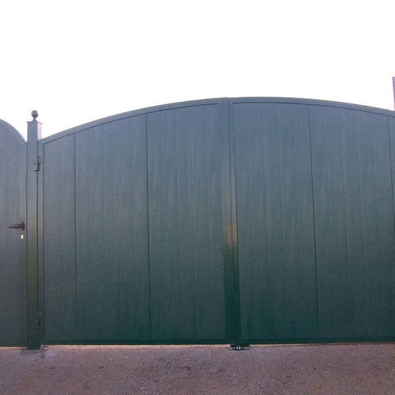 Puerta metálica batiente Gijón