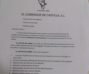 Cobro de morosos en Valladolid: El Capitán del Cobro