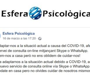 Comunicado importante Covid -19