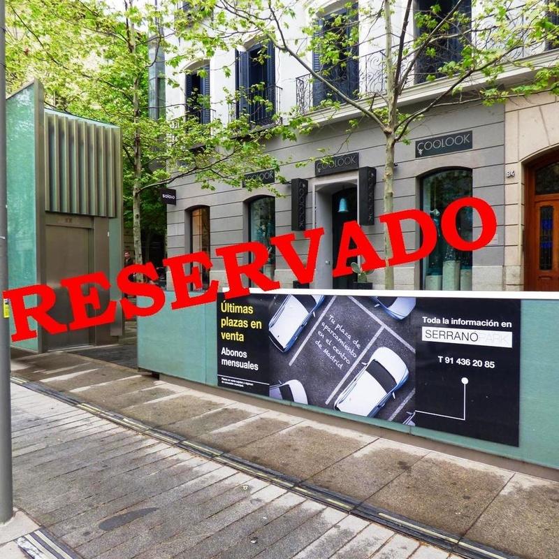 Plaza de garaje en Serrano:  de Vicente Palau Jiménez - Agente Inmobiliario