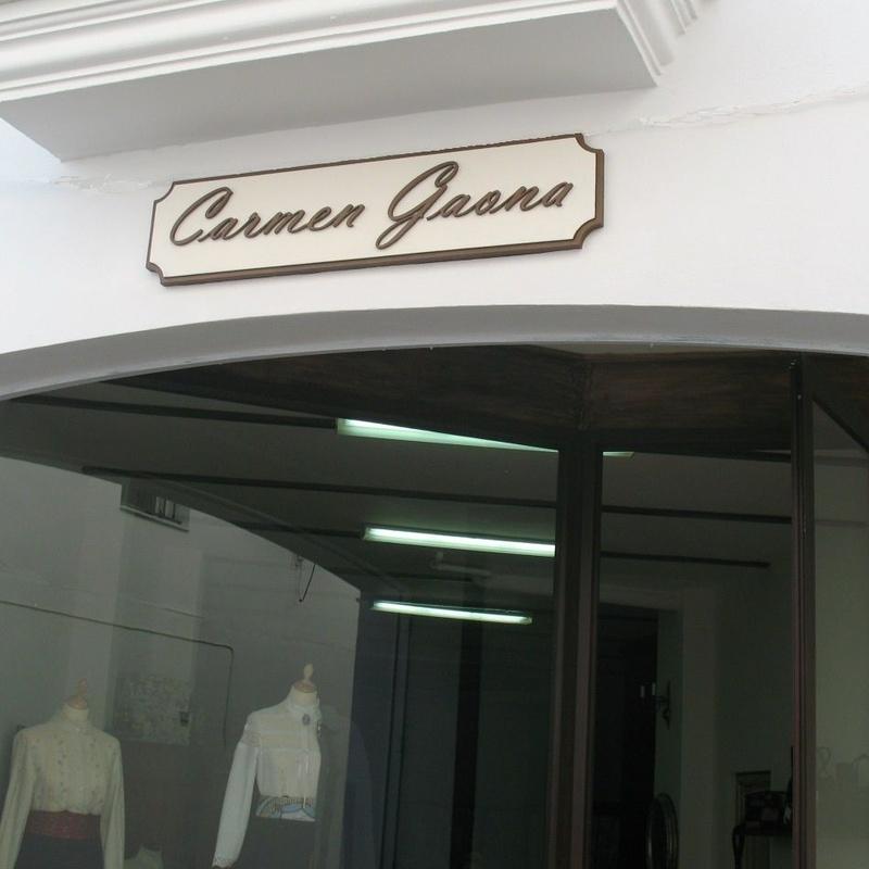 Cartel para tienda de ropas