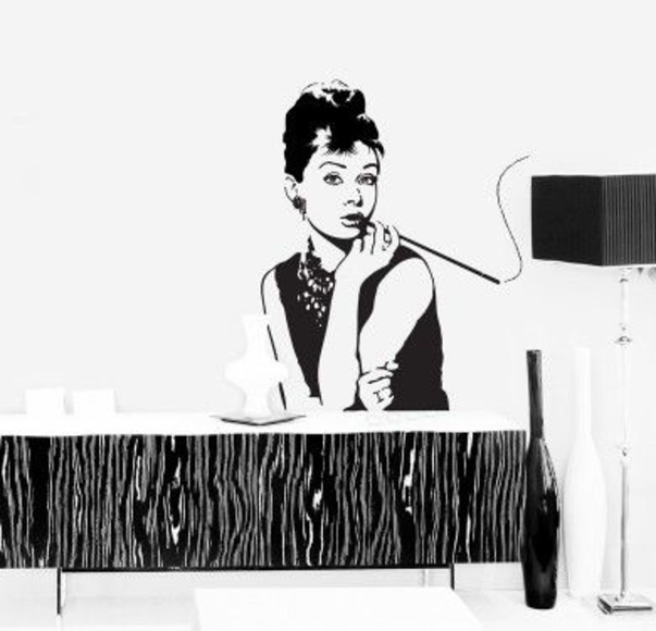 Wall sticker vinilo decorativo Audrey en Barcelona