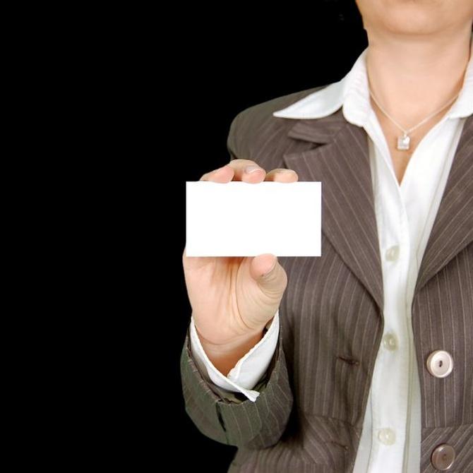 Consejos para preparar las tarjetas de visita