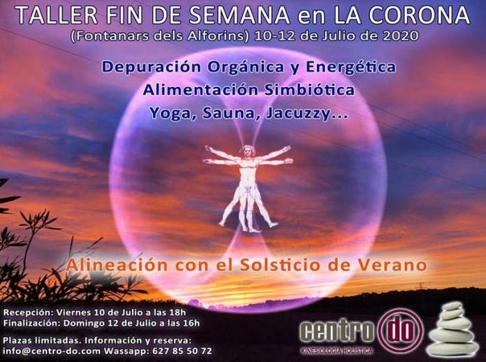 """Taller-Fin de semana en """"La Corona""""- Fontanars dels Alforins. 10-12 de Julio de 2020"""