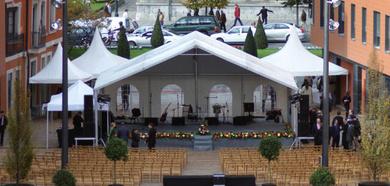 Actos públicos: presentaciones, inauguraciones, actos protocolarios