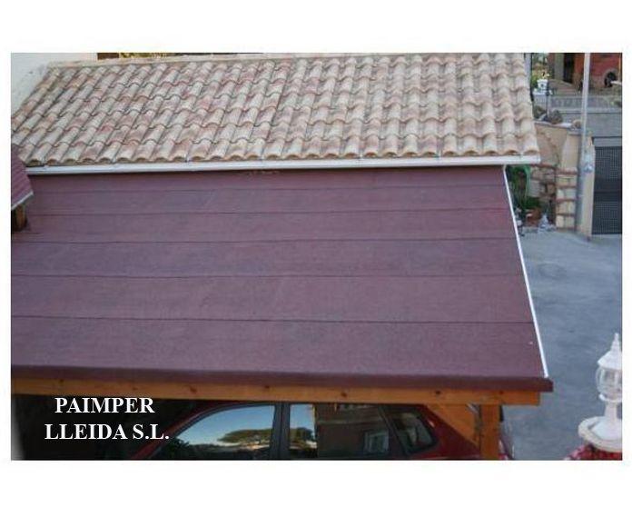 Cubiertas de tégola para porches