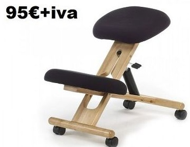 silla ergonómica de rodillas