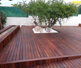 Tarima Ipé y madera exterior
