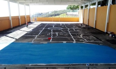 Rehabilitación Cancha CEIP San Isidro, en El Rosario