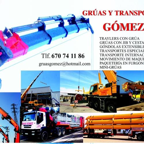 Grúas para obras en Guadalajara| Grúas y Transportes Gómez, S.L.