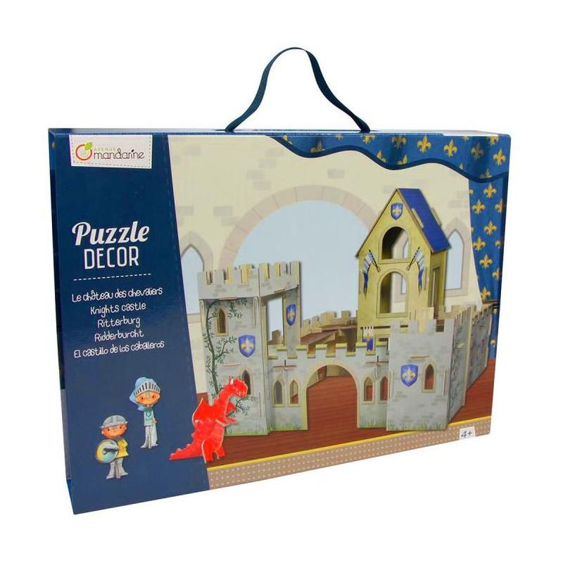 Puzzle decor 3D Castillo y caballeros. AVENUE MANDARINE