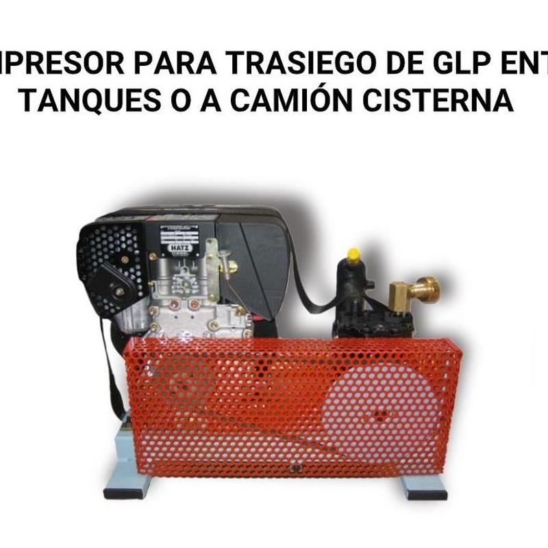 compresor portátil PTC 210 fabricado por PETROLTECNA