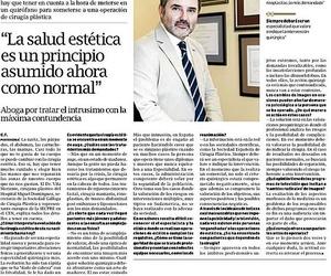 DR. VILA MORIENTE. CIRUJANO PLASTICO. SANTIAGO. A CORUÑA. EL CORREO GALLEGO.