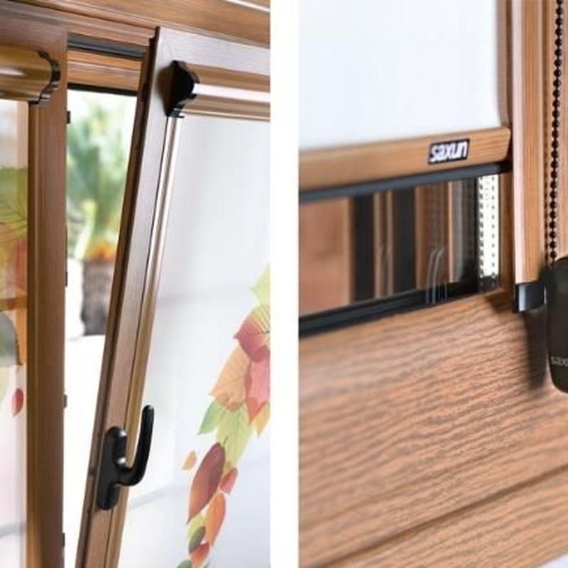 "Varios. Control solar. Estores integrados ""Storglass"": Productos de Aluminios Quatro"