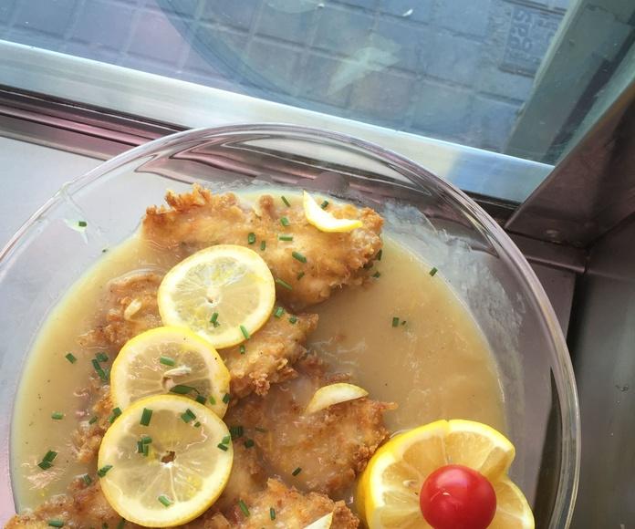 escalopines al limon La salsa es inigualable