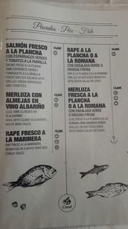 Nueva carta de carnes y pescados