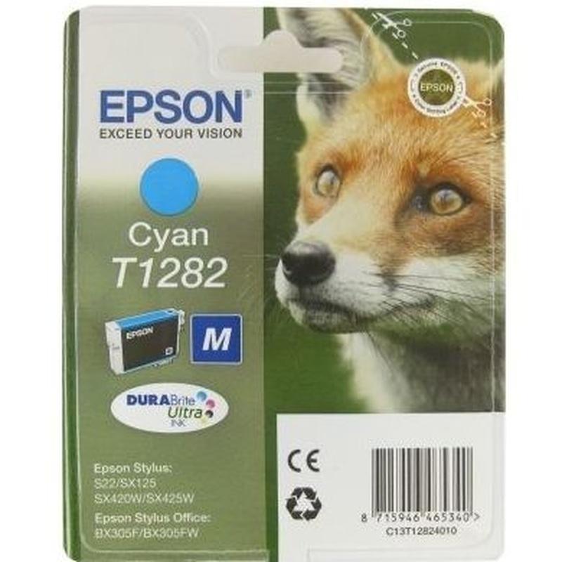 EPSON Cartucho T1282 Cian SX230/SX420/SX430: Productos y Servicios de Stylepc